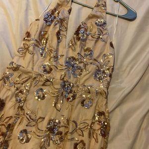 PromGirl Dresses - Rose Gold Prom Dress
